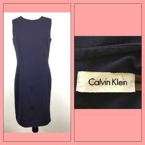 Calvin Klein Sheath Dress Size 8 Navy Blue